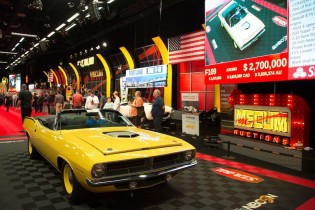 1970 Plymouth Hemi Cuda Convertible (Lot F109) sold for $2,675,000