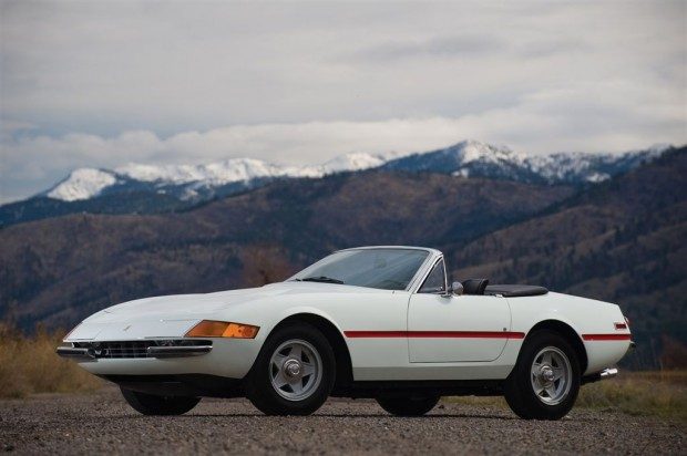 <strong>1971 Ferrari 365 GTB/4 Spyder – Estimate €880,000 - €1,100,000.</strong> Never titled at any point in its unbroken ownership history, Chassis # 14543 is one of the lowest-mileage, most original and unique Daytona Spyders in existence.