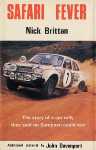 """1972 Ford Escort RS1600 was featured in book titled, """"Safari Fever"""" by Nick Brittan"""