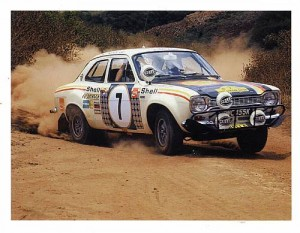 The Ford Escort RS1600 that Hannu Mikkola and Gunnar Palm piloted to victory at the 1972 East African Safari Rally did not meet the minimum reserve at Bonhams' Collectors Motor Cars and Automobilia sale held July 3rd, 2009 at the Goodwood Festival of Speed in England.