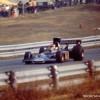 Emerson Fittipaldi's Lotus in Saturday practice sun