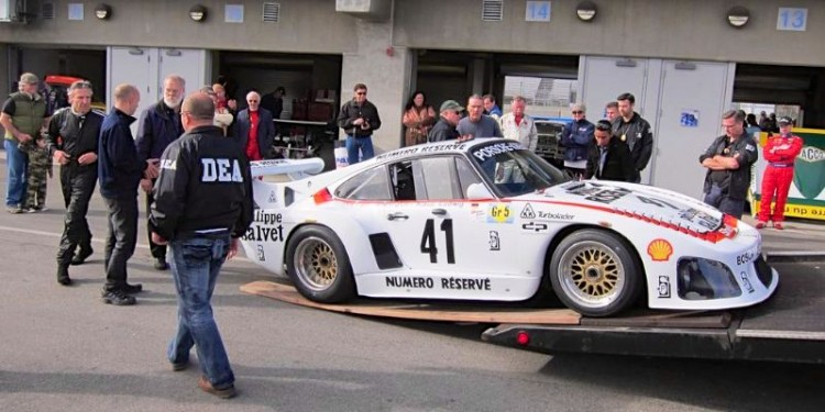 1979 Porsche 935 K3 loaded on DEA hauler (photo: David Soares)