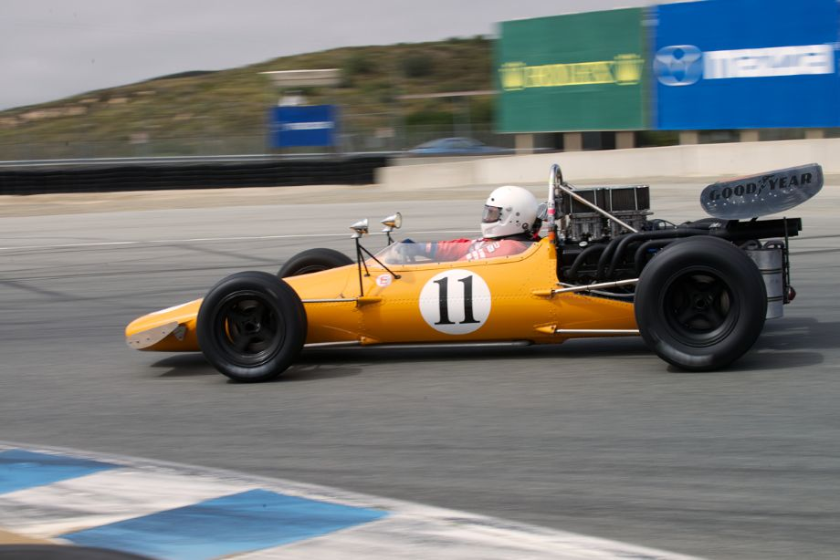 Martin Fogel's 1969 McLaren M10A in turn eleven Sunday.