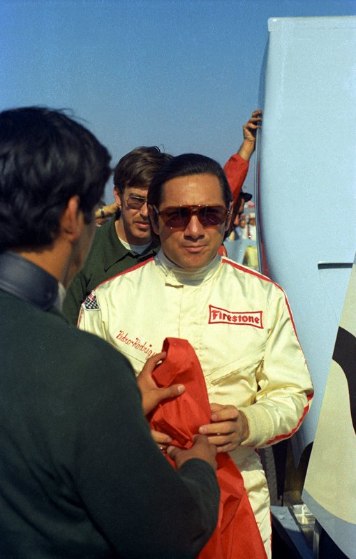 Pedro Rodriguez won the 24 Hours of Daytona in 1971 driving a Gulf Porsche 917.