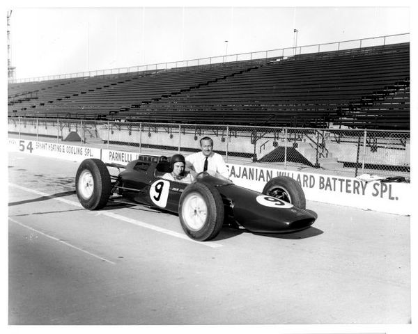 Jim Clark Lotus-Climax GP car, testing 1962 (IMS Archives)