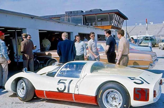 Porsche 906 E Gerhard Mitter Jochen Rindt Daytona 1967
