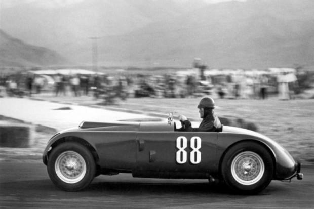 Jack McAfee driving John Edgar's MG Special at Palm Springs, 1952