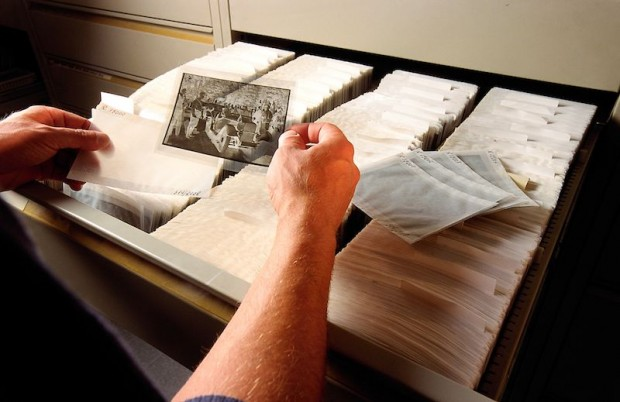 Microcopies of the negatives of historical material provide rapid access to important information without damaging the sensitive originals