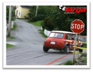 Mini Cooper at Targa Newfoundland Rally