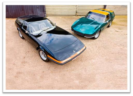Luigi Chinetti Ferrari Daytona shooting brake from 1972 and the last Vignale bodied Ferrari 330 GT shooting brake