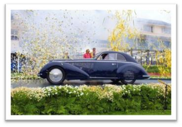1938 Alfa Romeo 8C 2900B Touring Berlinetta Jon Shirley Pebble Beach Best of Show