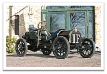 Isotta Fraschini model FE, a nimble sports car from 1908 of the Grand Prix des Voiturettes type