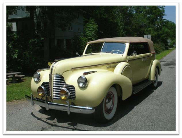 1940 Buick Limited Model 81C Fastback Convertible Phaeton