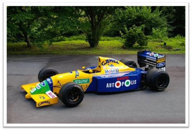 1990-91 Benetton B190 Formula 1 Racing Single-Seater Chassis B190-S/C 6, Ex-Nelson Piquet /Alessandro Nannini/Roberto Moreno