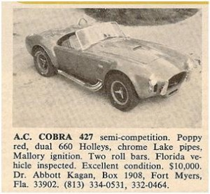 AC Cobra 427 S/C for sale