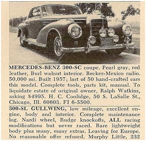Mercedes-Benz 300 SC Coupe for sale