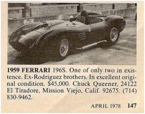 Ferrari 196S for sale