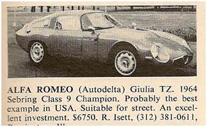Alfa Romeo TZ for sale