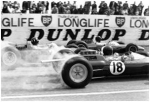 1962 Lotus 25 Formula 1 Race Car Smoking Tires