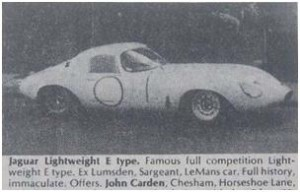 Jaguar E-Type Lightweight for sale