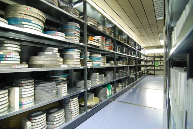 End-to-end multimedia: in addition to written documentation and photographs, the archive also collected other media from the outset. The photo shows the film archive