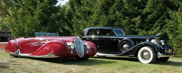 1939 Delahaye 165 Cabriolet by Figoni et Falaschi and 1934 Packard V-12 Sport Sedan by Dietrich won Best of Show at the 2009 Meadow Brook Concours d'Elegance