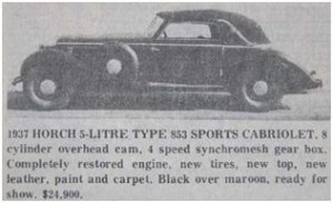 Horch Type 853 Sports Cabriolet