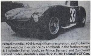 Ferrari 500 Mondial for sale