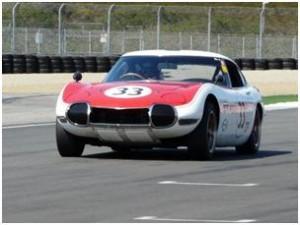 Toyota 2000GT racing at Monterey
