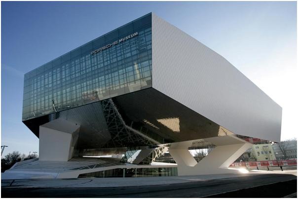 Outside View of the new Porsche Museum