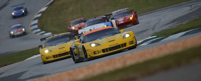 GT Class action at the 2013 Petit Le Mans