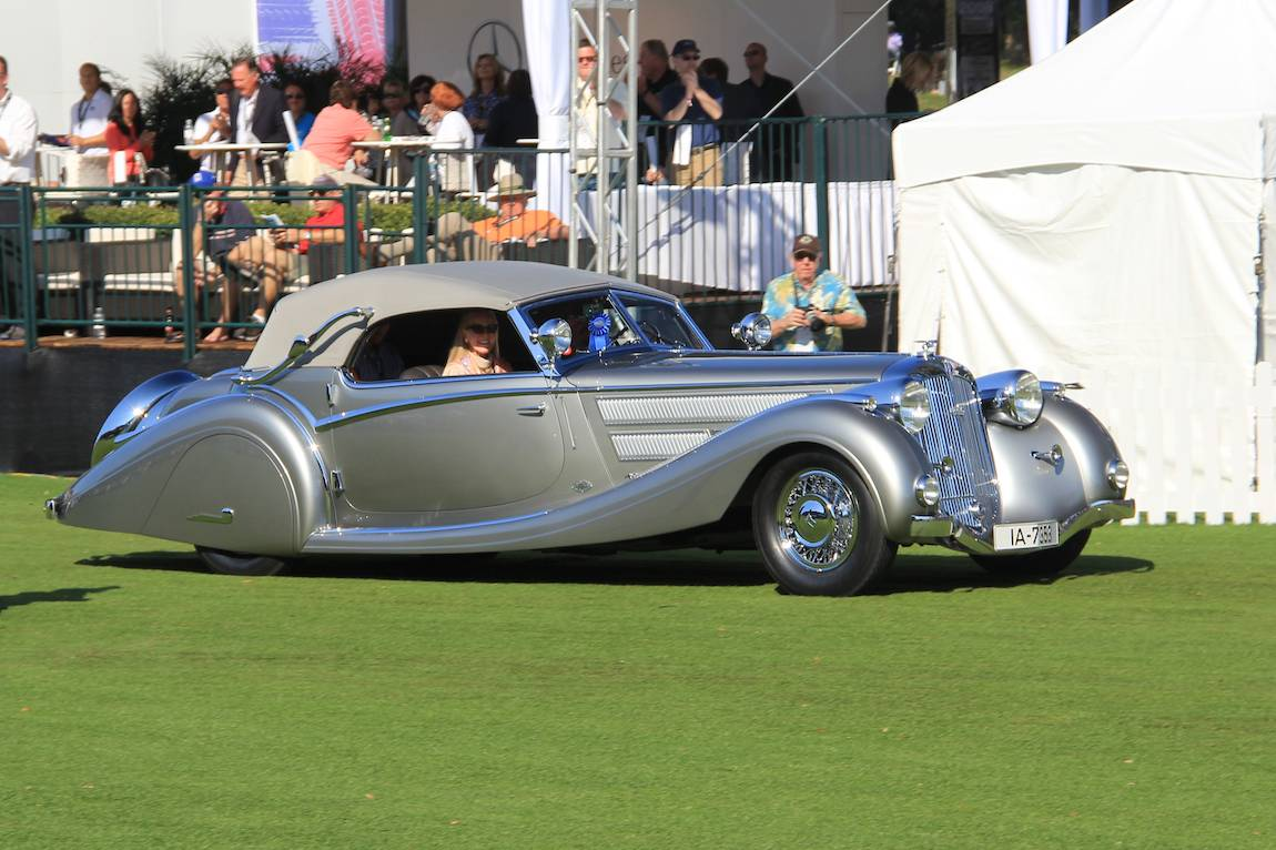 Best in Show Concours d'Elegance, 1937 Horch 853 Voll and Ruhrbeck Sport Cabriolet, Bob and Anne Brockinton Lee – Sparks, NV