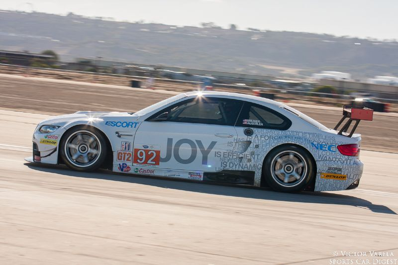 The 2010 BMW GT2 #92 car of Bill Auberlen and Tommy Milner.