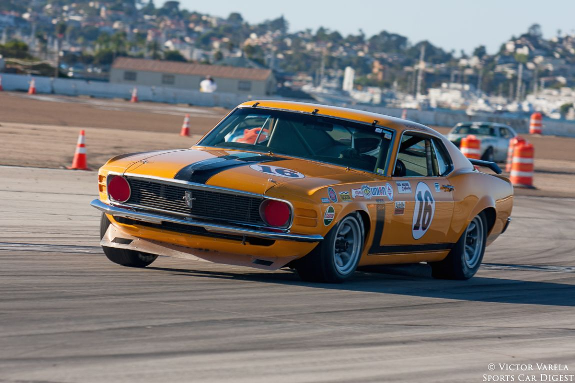 Chris Liebenberg in his 1970 Ford Boss 302 Mustang coming out of turn 9.