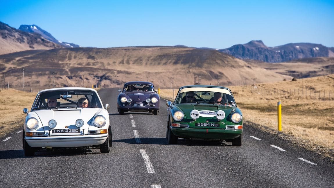 Porsche brothers on the Icelandic Saga Rally 2015 (photo: Francesco Rastrelli and Roberta Roccati)