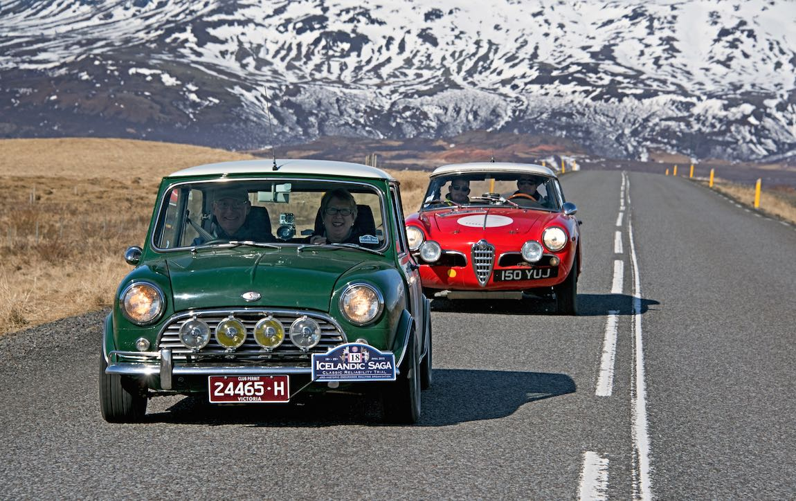 1968 Morris Mini Cooper S and 1960 Alfa Romeo Giulietta Spider