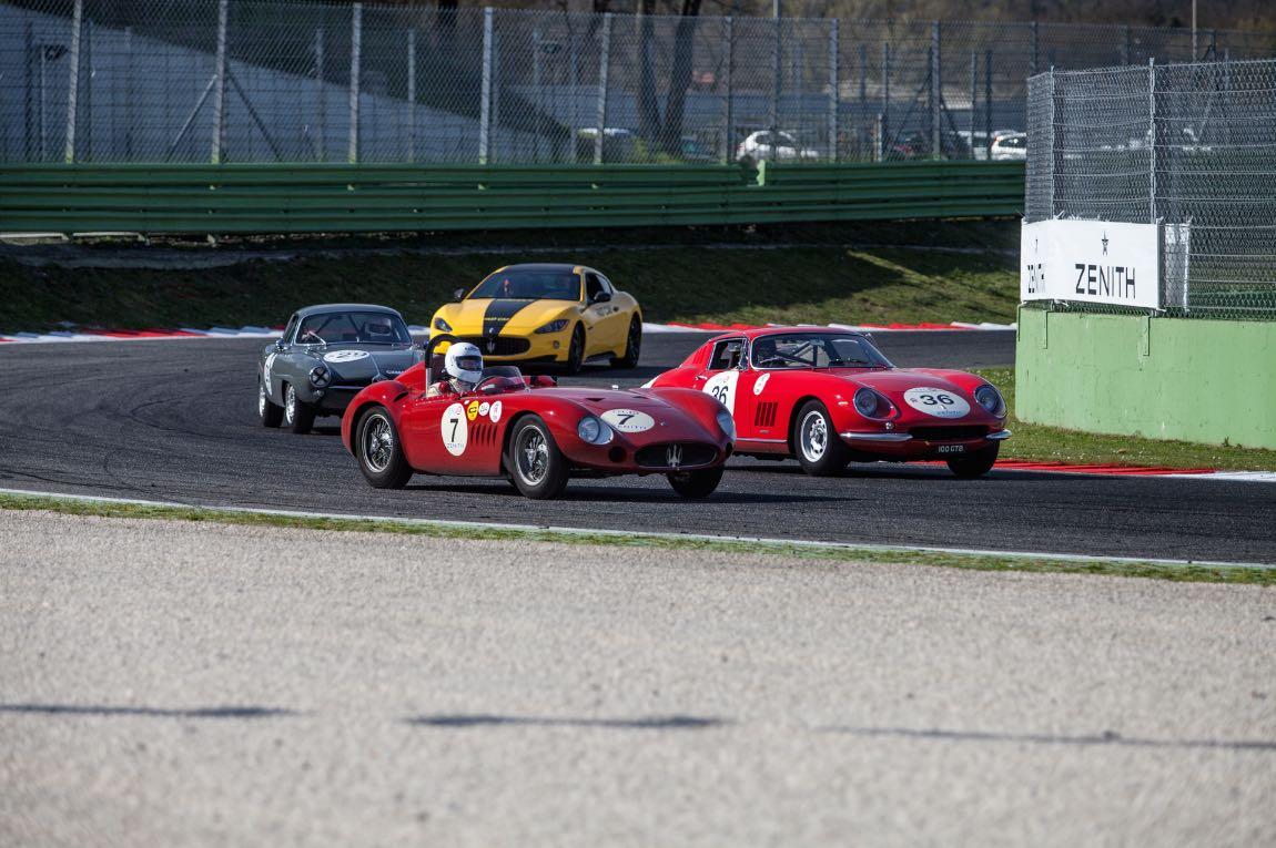 1957 Maserati 200 SI, 1966 Ferrari 275 GTB/C and 1964 Alfa Romeo Giulia Sprint Speciale