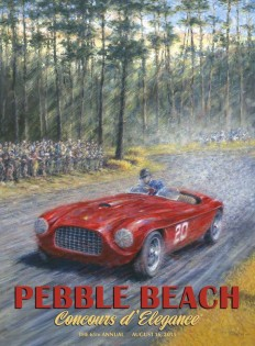2015 Pebble Beach Concours Poster Art by Peter Hearsey