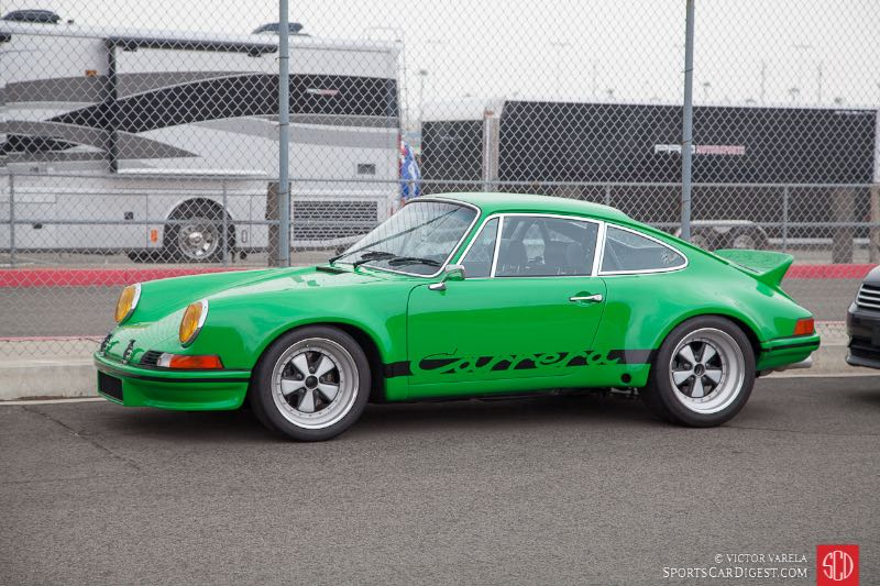 A beautiful green Porsche 911 Carrera
