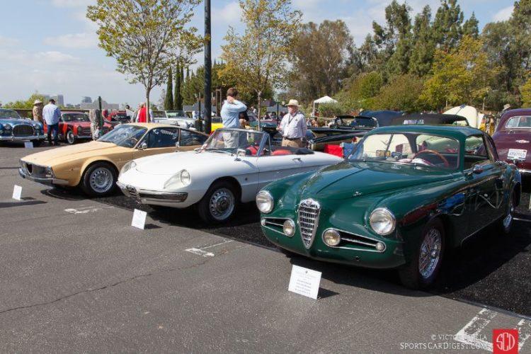 Alfa Romeos at Greystone Mansion Concours d'Elegance 2016