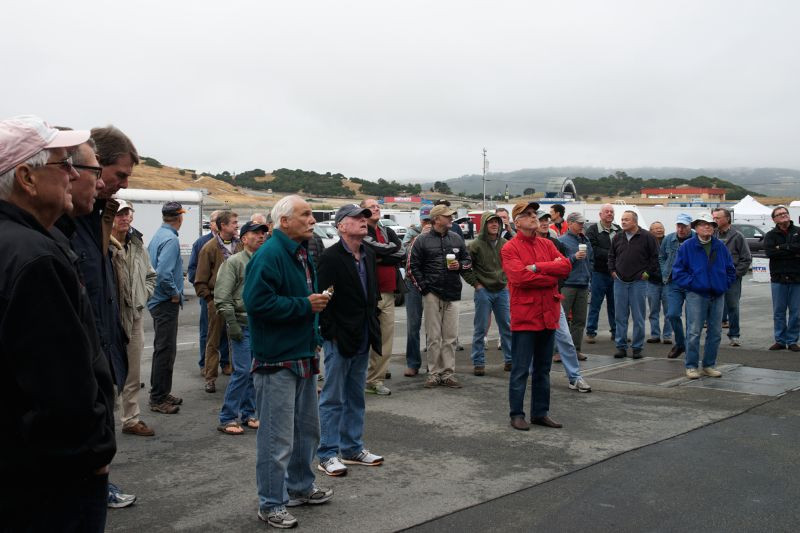 Saturday morning driver's meeting.
