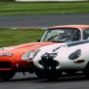 #112 Jaguar E-Type of Grahame Bull and #4 Jaguar E-Type of Timothy Mogrdige, Jaguar Classic Challenge (photo: Malcolm Griffiths)