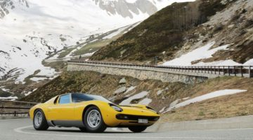 Lamborghini Miura on the Great St. Bernard Pass