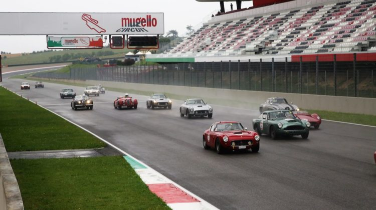 Full bore down the front straight at Mugello