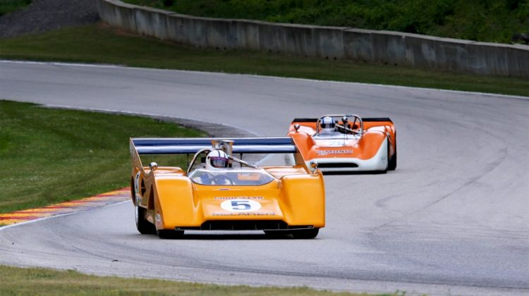 Chris MacAllister, 71 McLaren M8F and Lilo Ben-Zicron, 68 Lola T160