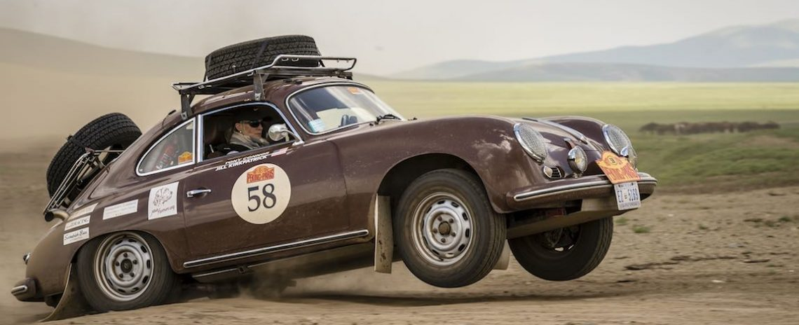 Car 58. Tony Connor(USA) / Jill Kirkpatrick(USA)1956 - Porsche 356A 1600, Peking to Paris 2016., Peking to Paris 2016. Day 06. Ulaan Baatar - Bulgan