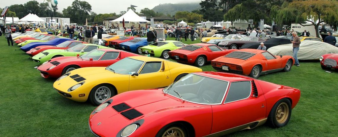 Colorful gathering for the 50th Anniversary of the Lamborghini Miura