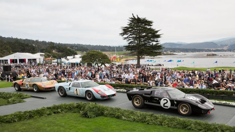 1-2-3 Ford GT40 Victory at Le Mans 50th Anniversary Celebration