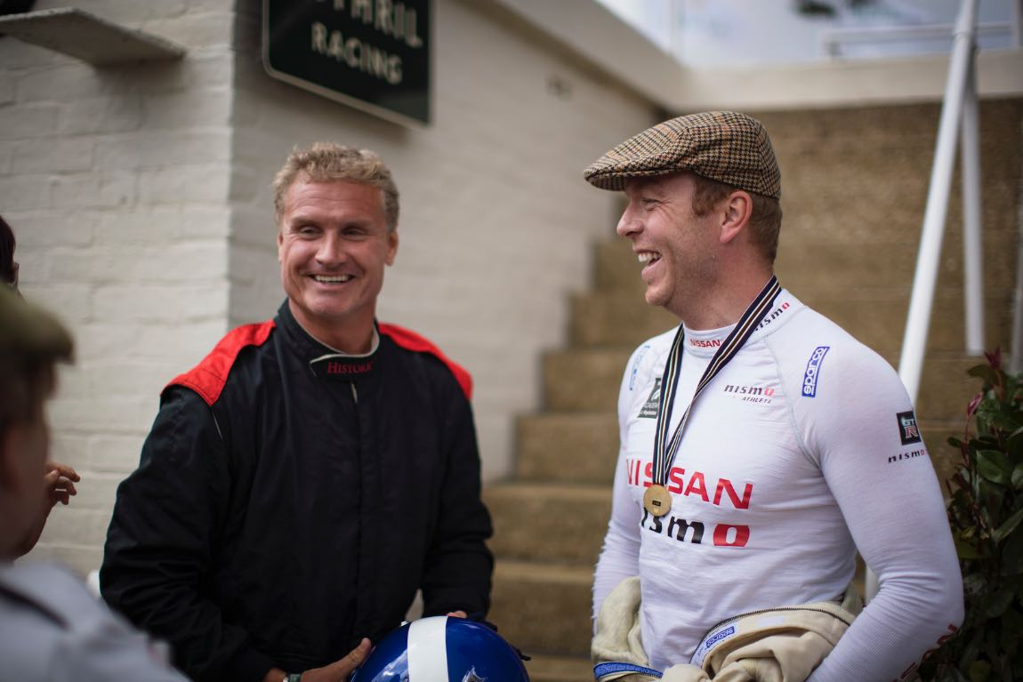 Goodwood Revival 2016 6th- 8th September 2016. David Coulthard and Chris Hoy Driver St Mary's Trophy Photo: Drew Gibson