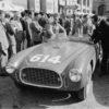Ferrari 340 America Vignale Spider at the 1952 Mille Miglia